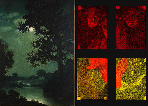 Moonlight, ca. 1888. Ralph Albert Blakelock, (American, 1847–1919),  Oil on canvas, 36 3/16 x 29 3/16 in. (91.92 x 74.14 cm), Gift from the Collection of Alice M. Kaplan through her daughter Joan K. Davidson, 2017.62.1