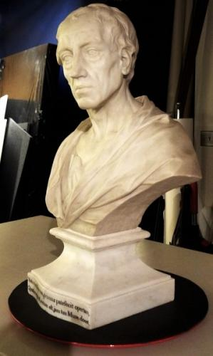Bust of Alexander Pope. The sculpture is part of a private collection.