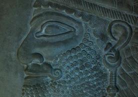 YUAG 1854.1. Visible light, Human-headed genie watering sacred tree