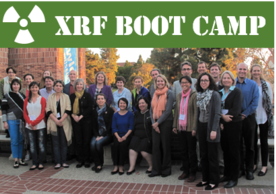 Participants and instructors of the 2014 XRF Boot Camp pose together at the Fowler Museum at UCLA