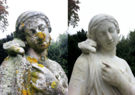 Before and after treatments (photo credit: Inspire Conservation http://stoneconservation.net/)