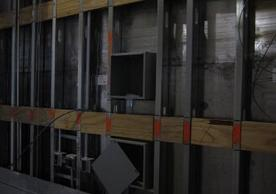 North wall of x-ray room with lead shielding in place