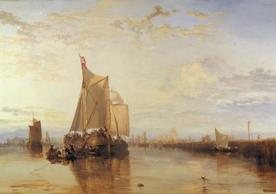 Joseph Mallord William Turner, 1775–1851, British, Dort or Dordrecht: The Dort packet-boat from Rotterdam becalmed, 1818, Oil on canvas, Yale Center for British Art, Paul Mellon Collection