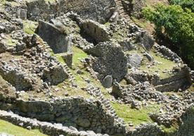 Untouched part of Machu Picchu that was partially destroyed after an earthquake in 1650