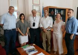 IPCH director Stefan Simon, far left, with members of ICCROM; photo courtesy of ICCROM